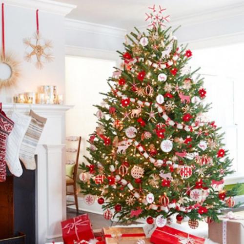 Beautiful-Christmas-Tree-Decoration-Ideas-Red-White